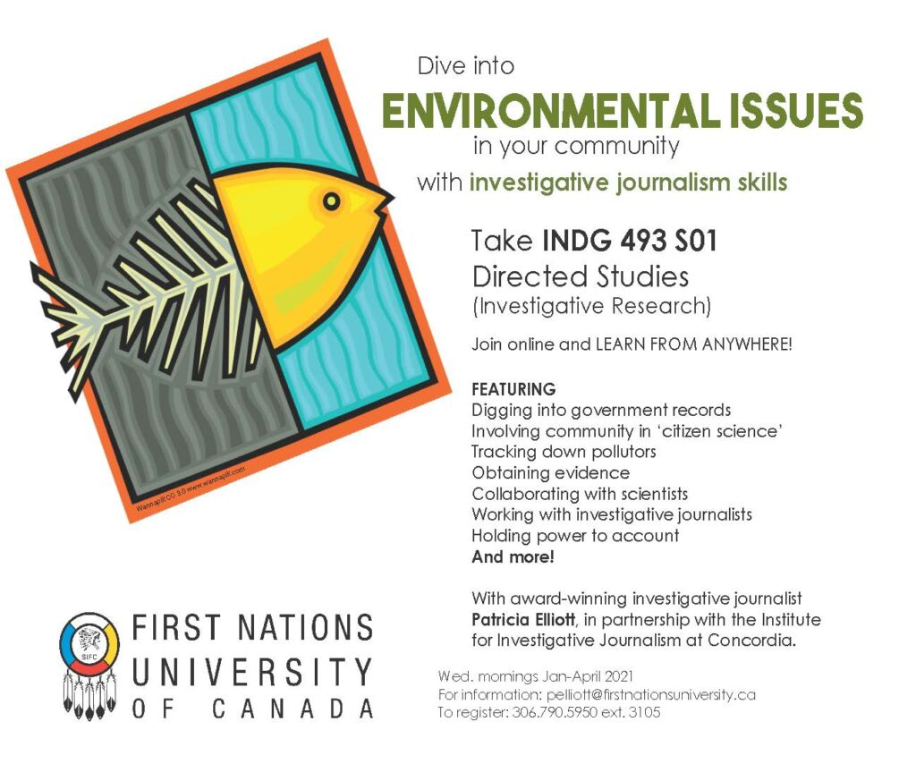 New course will teach how to become an environmental watchdog